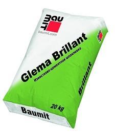 Известково-цементная шпаклевка   Baumit GlemaBrillant,  Россия, 20кг