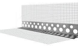 Уголок штукатурный алюмиевый с  сеткой А-0,25-18,5-3000-75 РБ
