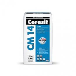 Эластичный клей для плитки   CERESIT CM 14,  25кг