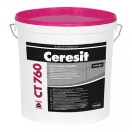 Штукатурка с фактурой «Архитектурный бетон» CERESIT CT 760 VISAGE, 20 кг