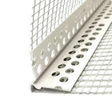 Профиль угловой ПВХ с армирующей сеткой 10х15,  3 м