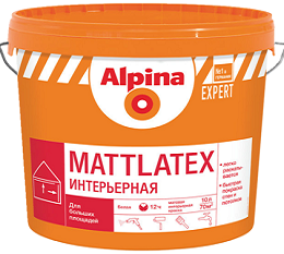 Alpina EXPERT Mattlatex, белая, 10 л
