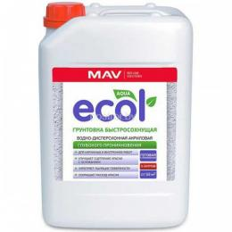 Грунтовка MAV ECOL быстросохнущая (10л)