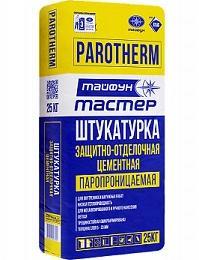 Штукатурка защитно-отделочная цементная PAROTHERM, 25 кг