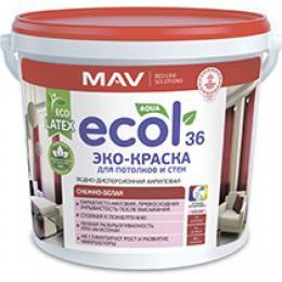 ЭКО-Краска ECOL 36 для потолков и стен (11л)