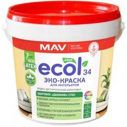 ЭКО-Краска ECOL 34 для интерьеров (11л)
