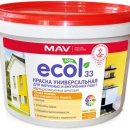 Краска ECOL 33 универсальная для наружных и внутренних работ (11л)